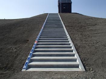 階段ブロック写真